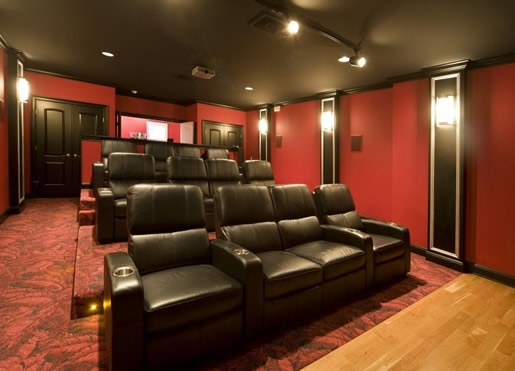 Media rooms atlanta home theater installation atlanta for House plans with media room